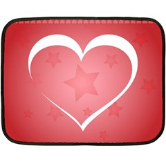 Postcard Banner Heart Holiday Love Double Sided Fleece Blanket (mini)