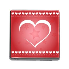 Postcard Banner Heart Holiday Love Memory Card Reader (square) by Amaryn4rt