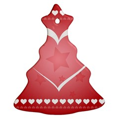 Postcard Banner Heart Holiday Love Ornament (christmas Tree)