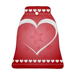 Postcard Banner Heart Holiday Love Ornament (bell)