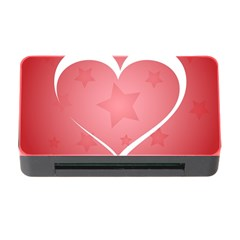 Postcard Banner Heart Holiday Love Memory Card Reader With Cf by Amaryn4rt