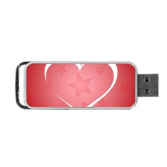 Postcard Banner Heart Holiday Love Portable Usb Flash (two Sides) by Amaryn4rt