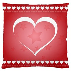 Postcard Banner Heart Holiday Love Large Flano Cushion Case (one Side) by Amaryn4rt