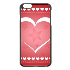 Postcard Banner Heart Holiday Love Apple Iphone 6 Plus/6s Plus Black Enamel Case by Amaryn4rt