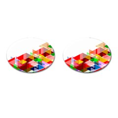 Graphics Cover Gradient Elements Cufflinks (oval) by Amaryn4rt