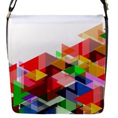 Graphics Cover Gradient Elements Flap Messenger Bag (s)