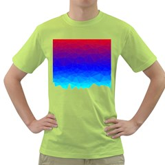 Gradient Red Blue Landfill Green T Shirt