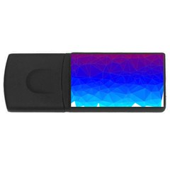 Gradient Red Blue Landfill Usb Flash Drive Rectangular (4 Gb) by Amaryn4rt