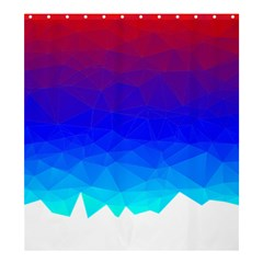 Gradient Red Blue Landfill Shower Curtain 66  X 72  (large)