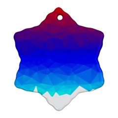 Gradient Red Blue Landfill Ornament (snowflake) by Amaryn4rt