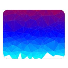 Gradient Red Blue Landfill Double Sided Flano Blanket (large)