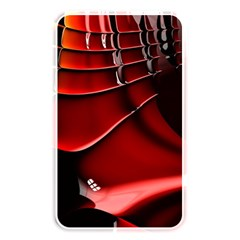 Red Black Fractal Mathematics Abstract Memory Card Reader by Amaryn4rt