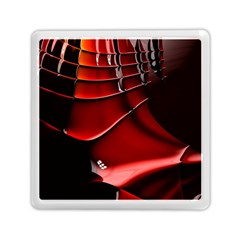 Red Black Fractal Mathematics Abstract Memory Card Reader (square)  by Amaryn4rt