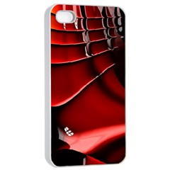 Red Black Fractal Mathematics Abstract Apple Iphone 4/4s Seamless Case (white)