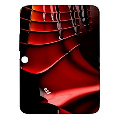 Red Black Fractal Mathematics Abstract Samsung Galaxy Tab 3 (10 1 ) P5200 Hardshell Case