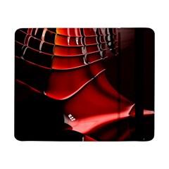 Red Black Fractal Mathematics Abstract Samsung Galaxy Tab Pro 8 4  Flip Case by Amaryn4rt
