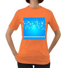Desktop Banner Postcard Hearts Women s Dark T Shirt
