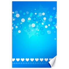 Desktop Banner Postcard Hearts Canvas 24  X 36  by Amaryn4rt