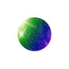 Shiny Sparkles Star Space Purple Blue Green Golf Ball Marker (4 Pack) by Alisyart