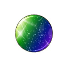 Shiny Sparkles Star Space Purple Blue Green Hat Clip Ball Marker (4 Pack) by Alisyart