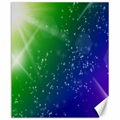 Shiny Sparkles Star Space Purple Blue Green Canvas 8  X 10  by Alisyart