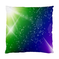 Shiny Sparkles Star Space Purple Blue Green Standard Cushion Case (one Side) by Alisyart
