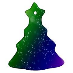Shiny Sparkles Star Space Purple Blue Green Ornament (christmas Tree)  by Alisyart