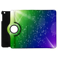 Shiny Sparkles Star Space Purple Blue Green Apple Ipad Mini Flip 360 Case by Alisyart