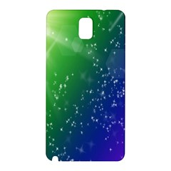 Shiny Sparkles Star Space Purple Blue Green Samsung Galaxy Note 3 N9005 Hardshell Back Case