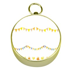 Season Flower Floral Spring Gold Compasses by Alisyart