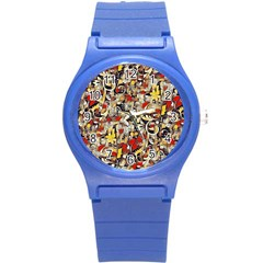 My Fantasy World 38 Round Plastic Sport Watch (s) by MoreColorsinLife