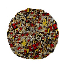 My Fantasy World 38 Standard 15  Premium Flano Round Cushions by MoreColorsinLife