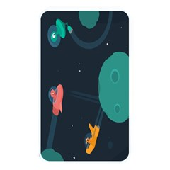 Space Illustration Irrational Race Galaxy Planet Blue Sky Star Ufo Memory Card Reader by Alisyart