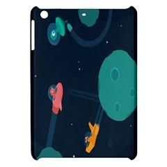 Space Illustration Irrational Race Galaxy Planet Blue Sky Star Ufo Apple Ipad Mini Hardshell Case by Alisyart