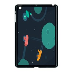 Space Illustration Irrational Race Galaxy Planet Blue Sky Star Ufo Apple Ipad Mini Case (black) by Alisyart