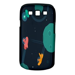 Space Illustration Irrational Race Galaxy Planet Blue Sky Star Ufo Samsung Galaxy S Iii Classic Hardshell Case (pc+silicone)
