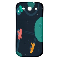 Space Illustration Irrational Race Galaxy Planet Blue Sky Star Ufo Samsung Galaxy S3 S Iii Classic Hardshell Back Case