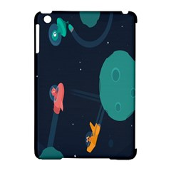 Space Illustration Irrational Race Galaxy Planet Blue Sky Star Ufo Apple Ipad Mini Hardshell Case (compatible With Smart Cover)