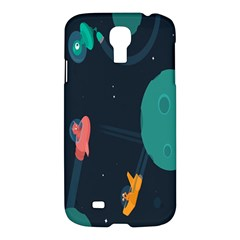 Space Illustration Irrational Race Galaxy Planet Blue Sky Star Ufo Samsung Galaxy S4 I9500/i9505 Hardshell Case