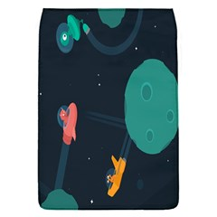 Space Illustration Irrational Race Galaxy Planet Blue Sky Star Ufo Flap Covers (s)  by Alisyart
