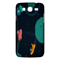 Space Illustration Irrational Race Galaxy Planet Blue Sky Star Ufo Samsung Galaxy Mega 5 8 I9152 Hardshell Case