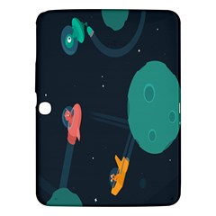 Space Illustration Irrational Race Galaxy Planet Blue Sky Star Ufo Samsung Galaxy Tab 3 (10 1 ) P5200 Hardshell Case