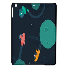 Space Illustration Irrational Race Galaxy Planet Blue Sky Star Ufo Ipad Air Hardshell Cases by Alisyart