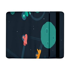Space Illustration Irrational Race Galaxy Planet Blue Sky Star Ufo Samsung Galaxy Tab Pro 8 4  Flip Case