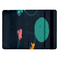 Space Illustration Irrational Race Galaxy Planet Blue Sky Star Ufo Samsung Galaxy Tab Pro 12 2  Flip Case
