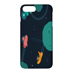 Space Illustration Irrational Race Galaxy Planet Blue Sky Star Ufo Apple Iphone 7 Plus Hardshell Case