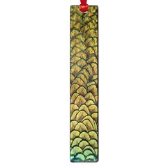 Peacock Bird Feather Gold Blue Brown Large Book Marks by Alisyart