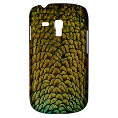 Peacock Bird Feather Gold Blue Brown Galaxy S3 Mini by Alisyart