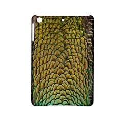 Peacock Bird Feather Gold Blue Brown Ipad Mini 2 Hardshell Cases by Alisyart