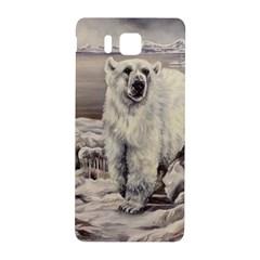 Polar Bear Samsung Galaxy Alpha Hardshell Back Case by ArtByThree
